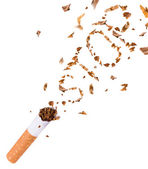 Breaking cigarette, quit smoking — Stock Photo