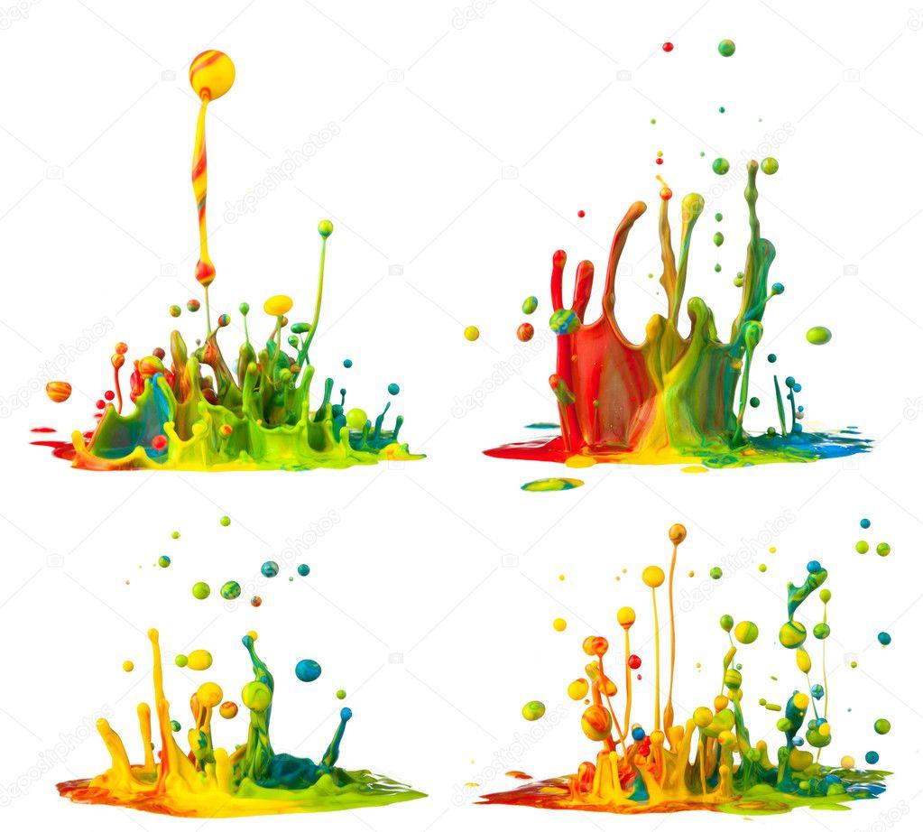 Salpicaduras de pintura colorida foto de stock kesu01 30588899 - Salpicaduras de pintura ...