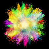 Launched colorful powder — Stock Photo