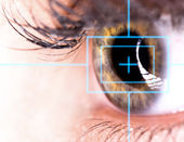 Beautiful Eye with laser — Stock Photo