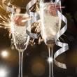 Pair of champagne flutes — Stock Photo #34777663