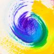 Abstract acrylic colors — Stockfoto