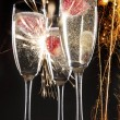 Stock Photo: Pair of champagne flutes