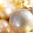 Gold christmas balls — Stock Photo #35751711