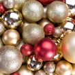 Gold christmas balls — Stock Photo #35751813
