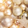 Gold christmas balls — Stock Photo #35752011