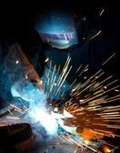 Welder in action — Stok fotoğraf