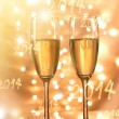 Pair of champagne flutes — Stock Photo
