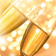 Pair of champagne flutes — Stock Photo #36078035