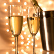 Pair of champagne flutes — Stock Photo #36089681