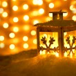 Christmas lantern with snowflakes — ストック写真