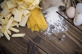 Assortment of uncooked pasta — Stock Photo