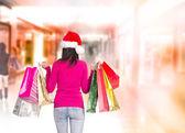 Shopping di natale. — Foto Stock