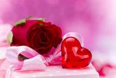 Valentin den pozadí — Stock fotografie