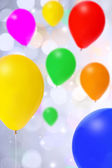 Bright bunch of colorful balloons — 图库照片