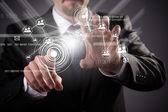 Moderna tecnologia sem fio e mídias sociais — Foto Stock