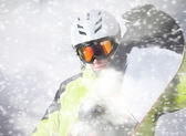 Snowboarder portrait — Stock Photo