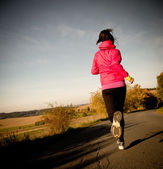 Healthy fit woman runner... — Stock Photo