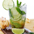 Fresh mojito cocktails on beach — Stock Photo #45795621
