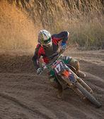 Motocross bike in a race. — Fotografia Stock