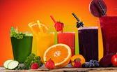 Fresh juice mix fruit. — Stock Photo
