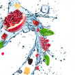Fresh fruit in water splash — Stock Photo #48862615