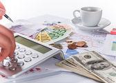 Financial concept, Euro coins. — Stock Photo