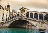 Glorious bridge of Rialto, Venice. — Stock Photo