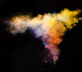 Colored powder in freeze motion — 图库照片