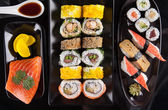 Delicious sushi set — Stock Photo