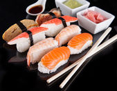 Delicious sushi set — Stock Photo
