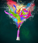 Colorful splashes in abstract shapes — ストック写真