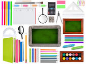 School supplies collection — Stock Photo