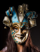 Colorful Venetian carnival mask — Photo