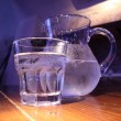 Carafe and glass — Stock Photo