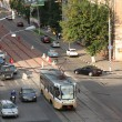 City Car Traffic and Public Transportation — стоковое фото #12883984