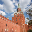 Moscow Kremlin wall and Troitskaytower — Stock Photo #14773399