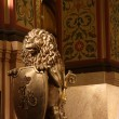 Bronze lion in Moscow State Historical Museum — Stock Photo