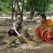 Stock Photo: Young tourist girl in Tiger Temple
