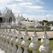 Stock Photo: White Temple Wat Rong Khun in Thailand