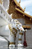 статуя слона в буддийском храме в таиланде — Стоковое фото