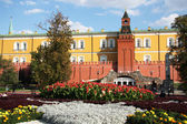 Summer view of Alexander Garden and Moscow Kremlin — Stock Photo