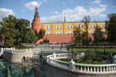 Alexander Garden, Manezhnaya Square and Moscow Kremlin — Stock Photo