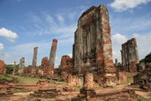 Ancient ruins of Ayutthaya — Stock Photo