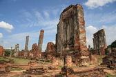 Ancient ruins of Ayutthaya — Stock Photo