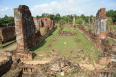 Ancient ruins of Ayutthaya in Thailand — Stock Photo
