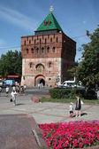 прогулка у дмитровской башни, нижегородский кремль — Стоковое фото