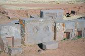 Ancient ruins of Puma Punku, Tiwanaku, Bolivia — Stock Photo