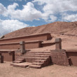 Ancient Pyramid Akapana in Tiwanaku, Bolivia — Stock Photo