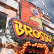 Stock Photo: Brosso fast food restaurant sign in LPaz, Bolivia